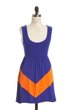 $35 LUCKY YOU-  GATORS ROYAL BLUE & ORANGE DRESS  ShopSimplyMe.com