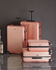 Rose Gold Hardside Luggage.Yes, please!