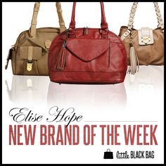 New brand of the week: Elise Hope #handbags #fashion #love