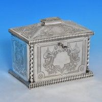 Joseph Angell II - 1872 Sterling Tea Caddy,London