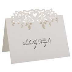 Whether you need to note the seating assignments for your guests, or just their choice of meal, these little stand up cards work perfectly. They come in 2-up format so they can be fed through your home printer.
