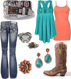 """Untitled #38"" by smalltowngirl15 on Polyvore--- different belt / got just the thing :)"