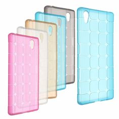 Ultra-slim Cube Grid TPU Soft Case Back Cover For Sony Z5