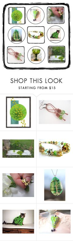 """""""Green Gifts!"""" by therusticpelican ❤ liked on Polyvore featuring modern, contemporary, rustic and vintage"""