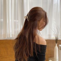 Clip Hairstyles, Braided Hairstyles, Hair Inspo, Hair Inspiration, Hair Color Underneath, Japon Illustration, Aesthetic Hair, Dream Hair, About Hair