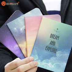 New Galaxy Star Sky City Lights Summer Beach Notebook Diary Book Exercise Composition Notepad Gift Stationery 1 pcs Diary Book, Journal Diary, Journal Notebook, Journals, Galaxy Notebook, Stationary Store, Best Gel Nail Polish, Stationery Pens, Nail Art Supplies