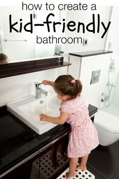 6 Updates to Make Your Bathroom More Kid-Friendly @Remodelaholic #spon #bathroom #kidfriendly #family