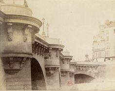 Le Pont Neuf photographié en 1898 par Eugène Atget  (Paris 1er)