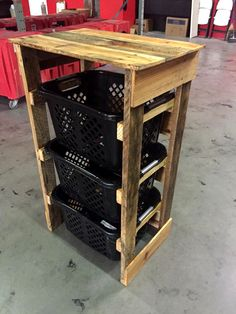 Pallet Laundry Dresser - 130+ Inspired Wood Pallet Projects | 101 Pallet Ideas - Part 13