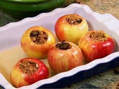 Baked Apples Recipe : Patrick and Gina Neely : Recipes : Food Network Apple Desserts, Apple Recipes, Easy Desserts, Diet Recipes, Dessert Recipes, Cooking Recipes, Healthy Recipes, Fruit Dessert, Eat Fruit