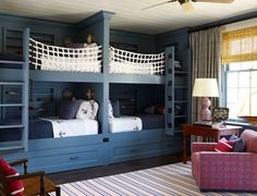 REALLY want built in bunks for my grandkids rooms!  4 in girls room and 4 in boys room!  And I hope they all get filled!  lol