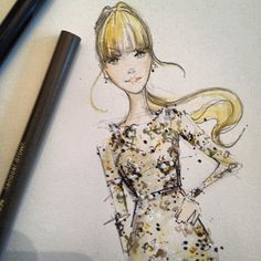 Oh just whipping up a quick fashion illo for @taylorswift13... #myjobiscoolerthanyourjob