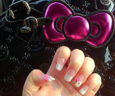 I'm starting to like hello kitty more Hello Kitty Nails, Nail Accessories, Fabulous Nails, Nail Arts, Heart Ring, Nail Polish, My Style, Beauty, Jewelry