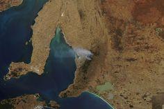 Nasa MODIS Terra imagery sampson flat fire 3rd January 2015