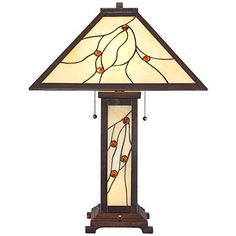 Robert Louis Tiffany Bexley Mission Nightlight Table Lamp - #8C275 | Lamps Plus