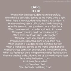 Dare to Be... wow. I really love this. by judith
