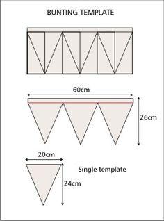 how to make bunting   Limetrees Studio