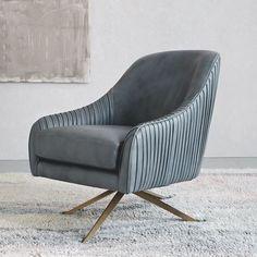 Roar + Rabbit Swivel Chair - Leather