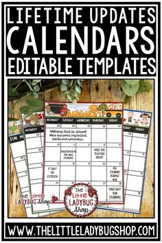 You will love these Editable Calendars for current school year with Monthly Themes. These are perfect for monthly classroom communication with school, parents, and families. These will have lifetime updates. #editablecalendartemplates #classroomcalendar