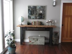Console Table & Mirror Vignette - eclectic - living room - other metro - Taylored Interior Design & Construction Living Room Images, Living Room Designs, Adams Homes, Interior Design And Construction, Eclectic Living Room, Design Your Dream House, Grey Room, Living Room Paint, Living Rooms