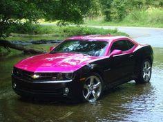 Pink Chevy Camaro