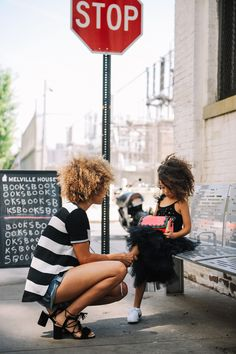 Chic Mom and little one street style