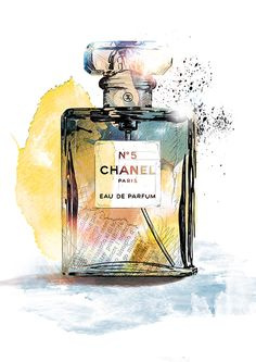 de – Product Illustrations created with watercolors, ink and fineliners: Chanel Coco Chanel Wallpaper, Chanel Wallpapers, Perfume Chanel, Bottle Drawing, Perfume Making, Aesthetic Painting, Fashion Wall Art, Photo Wall Collage, Illustrations