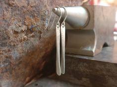 Long Silver Earrings Minimalist Earrings Boho Earrings Long | Etsy