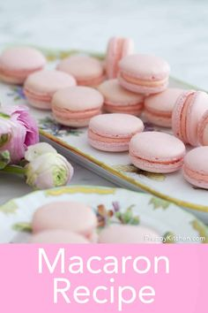 From Preppy Kitchen, these French macarons make a very special treat to give your friends and family. They're bite-sized Heaven! I've included ALL the tips and tricks I can think of to help you make these cookies picture perfect and delicious! Easy French Macaron Recipe, French Macaroon Recipes, French Macaroons, Baking Recipes, Cookie Recipes, Dessert Recipes, Baking Ideas, Yummy Recipes, Free Recipes
