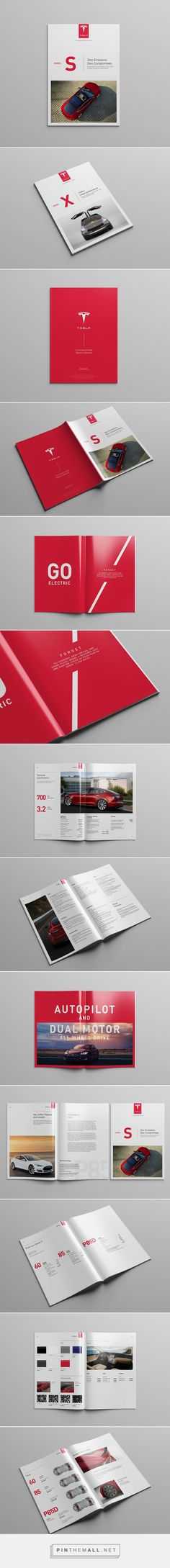 Tesla Model S Catalog on Behance - created via https://pinthemall.net