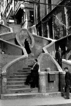 henri cartier-bresson, camondo stairs, istanbul, turkey, 1964