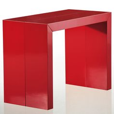 Table Console extensible Stardust Rouge laqué
