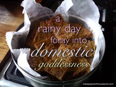 A rainy day foray into domestic goddessness. (The Official MPWH Flapjack recipe) Flapjack Recipe, Biscuit Cookies, The Make, Joyful, Cool Gifts, Goddesses, Biscuits, Gluten Free, Beef