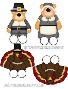 Free Thanksgiving finger puppets printables @ Untilwednesdaycalls.blogspot.com #printable #thanksgiving #DIY #crafts #kids