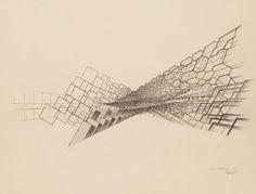 Projets utopiques de villes obliques, by Claude Parent
