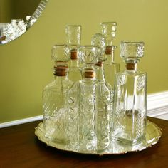 decanters - love this, have some of these same decanters
