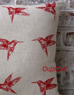 Original Humming birds design Hand screen printed with by CujiCoo