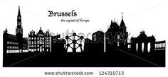Brussels Skyline - stock vector