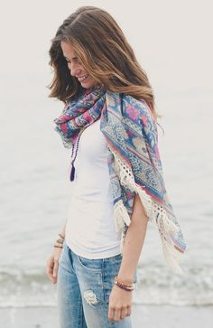 The journey of spiritual seekers, healers, and vagabonds was our inspiration for the Sedona Shawl.