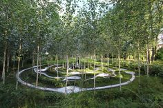 Birchbone Garden by Charles Jencks