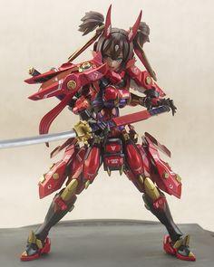 朱羅 赤鬼 | メガミデバイス オフィシャルサイト Combat Suit, Cyberpunk Girl, Frame Arms Girl, Robot Girl, Anime Toys, Anime Figurines, Custom Gundam, Warrior Girl, Anime Merchandise