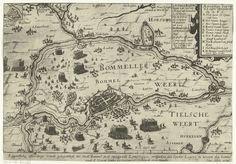 De strijd in de Bommelerwaard, 1599, anoniem, Herman Allertsz Koster, 1599