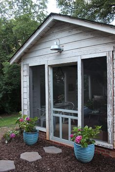 Rustic backyard shed