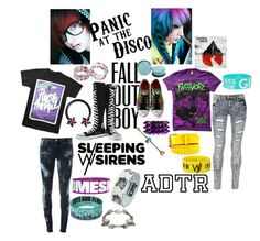 """""""2 scene kids"""" by two-hundred-forty-nine-point-two ❤ liked on Polyvore"""
