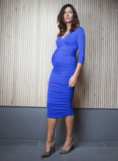 The Ruched Wrap Maternity Dress | Isabella Oliver | Maternity Dress