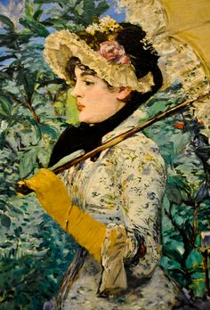 "Edouard Manet's ""Le Printemps"" (1881). J. Paul Getty Museum, Los Angeles, CA"