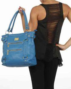 Zip Stripe Handbag