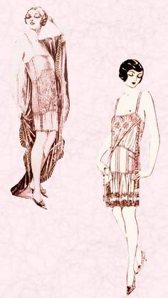 the look for a woman was very conservative- hair up, tight corsets, in the early 1900's. corsets passed, hemlines raised, and necklines became much lower in the 20's. Flappers(young rebellious women) wore lighter/brighter dresses with accesories and jewelry.