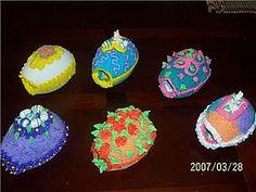Kids sugar decorated  eggs