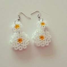 Earrings hama beads by turtiandbeads
